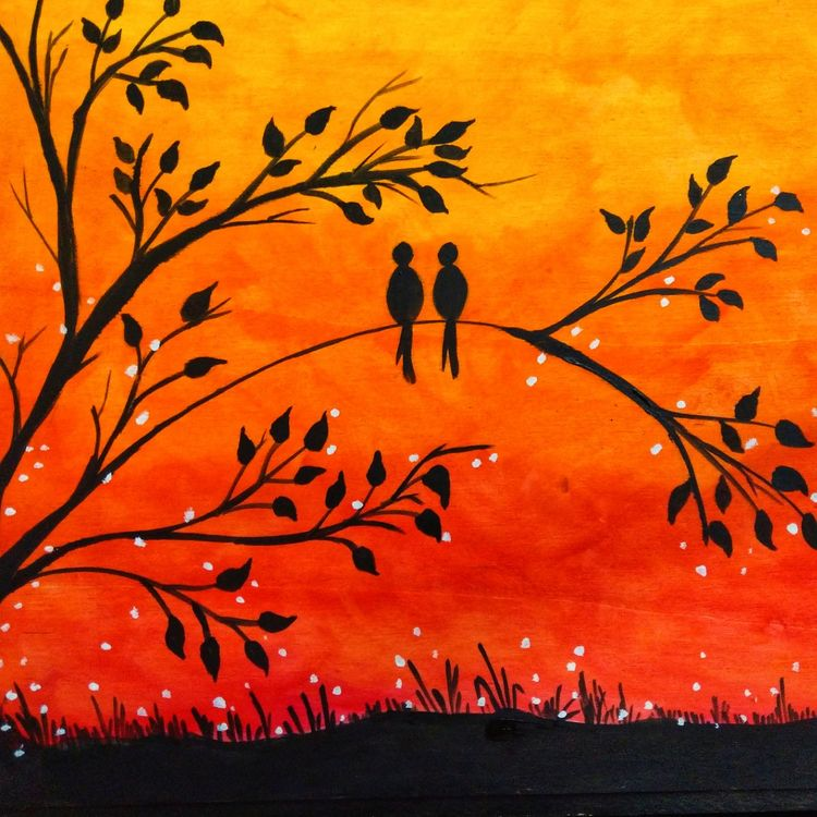 Beautiful Easy Acrylic Painting Ideas for Beginners, Love Birds Painting, Easy Landscape Painting Ideas, Easy Painting Ideas for Kids, Simple Abstract Painting Ideas, Easy Canvas Painting Tips for Beginners