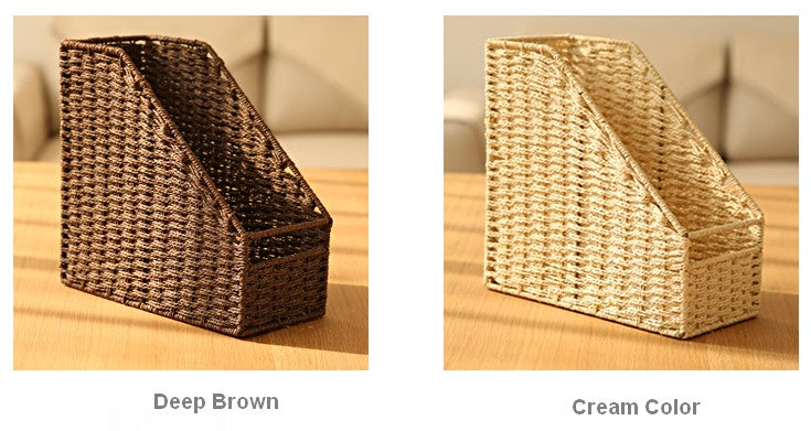 Woven Straw File Folder Racks