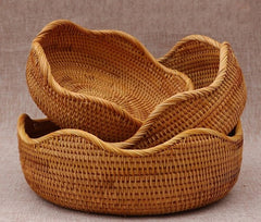 Handmade Round Basket, Woven Basket, Natural Basket, Home Decor, Rustic Basket