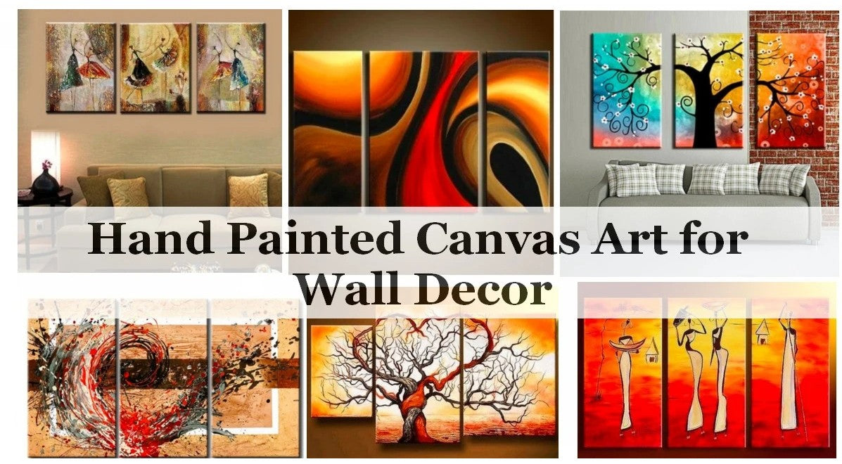 Buy Acrylic Painting Online, Wall Art Ideas for Living Room, Modern Acrylic Artwork, Hand Painted Canvas Art, 3 Piece Paintings
