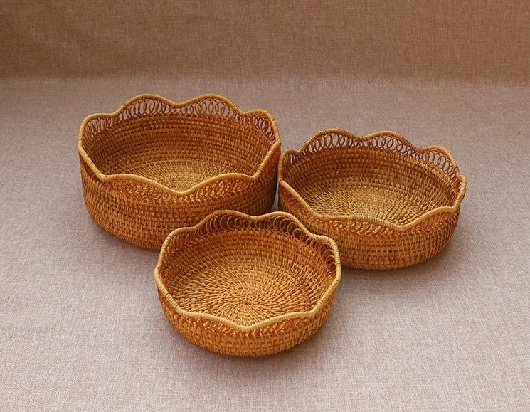 storage basket for kitchen, rattan storage baskets, round storage basket, kitchen storage ideas