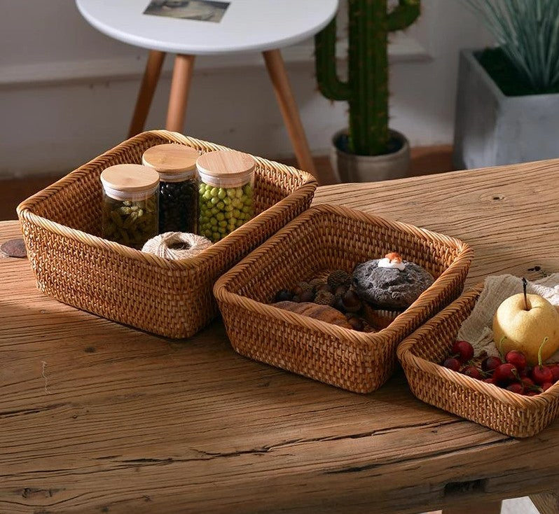 storage baskets for shelves, woven storage baskets for pantry, rectangular storage baskets for kitchen