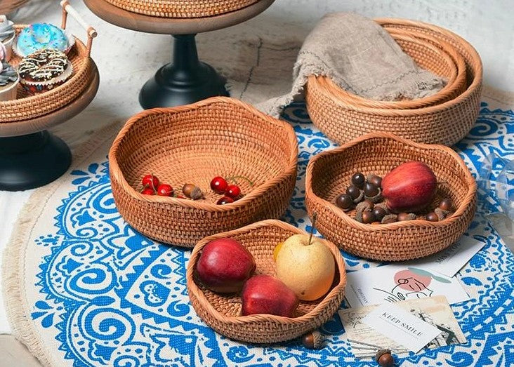 smart storage ideas for kitchen, small round storage baskets, pantry storage ideas