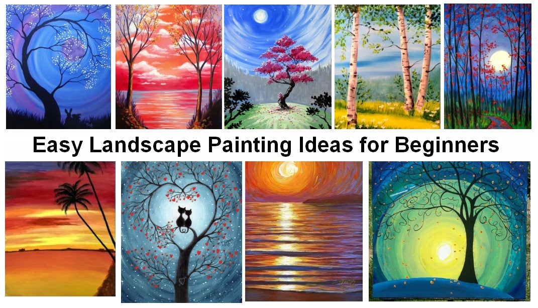Beautiful Easy Acrylic Painting Ideas for Beginners, Easy Landscape Painting Ideas, Easy Painting Ideas for Kids, Simple Abstract Painting Ideas, Easy Canvas Painting Tips for Beginners