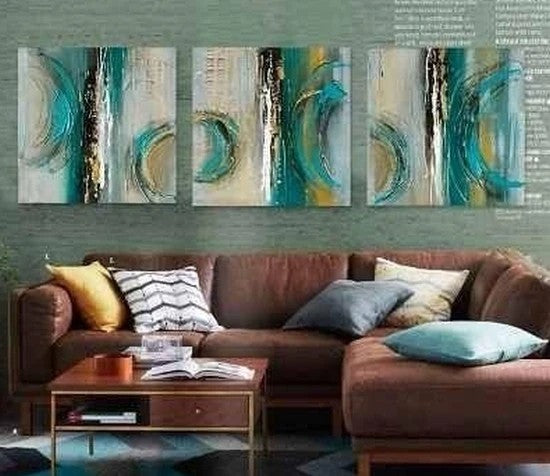 Abstract Acrylic Painting, Large Acrylic Painting for Sale, Modern Paintings, 3 Piece Paintings, Large Painting for Living Room