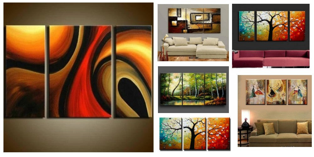 Modern Paintings for Living Room, 3 Piece Wall Art Paintings, Multiple Canvas Paintings, Acrylic Paintings for Bedroom, 3 Piece Paintings, Hand Painted Canvas Painting