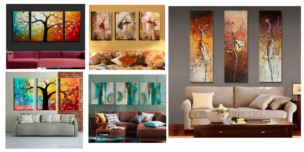 Acrylic Paintings for Bedroom, 3 Piece Paintings, Modern Paintings for Living Room, 3 Piece Wall Art Paintings, Multiple Canvas Paintings, Hand Painted Canvas Painting