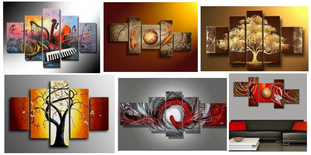 Large Paintings for Living Room, Acrylic Paintings for Bedroom, Hand Painted Wall Art Paintings, Hand Painted Canvas Paintings