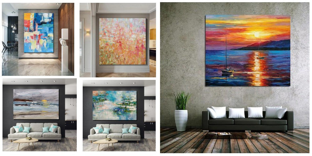 contemporary wall art paintings, acrylic painting on canvas, large paintings for sale, huge canvas painting, bedroom wall art paintings