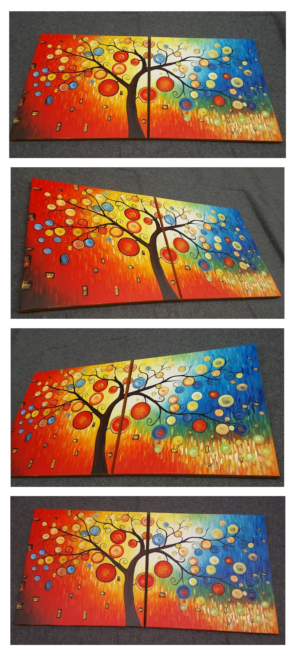 Tree of Life Painting, Canvas Painting, Large Oil Painting, Living Room Wall Art, Contemporary Art, Huge Art