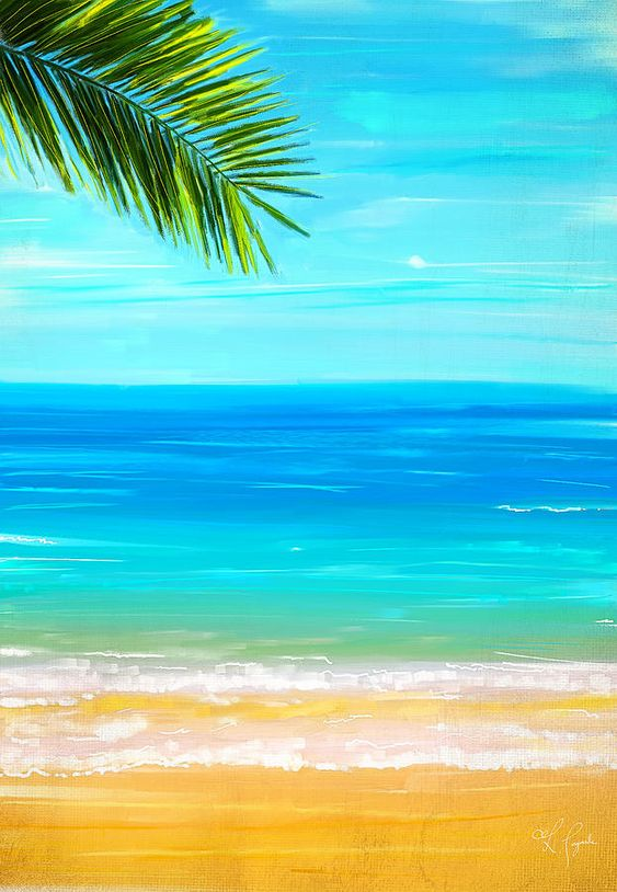 50 Easy DIY Acrylic Painting Ideas, Easy Landscape Painting Ideas for Beginners, Seascape Palm Tree Painting, Simple Oil Painting Techniques