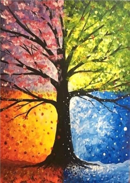 50 Easy DIY Canvas Paintings, Tree of Life Painting, Easy Landscape Painting Ideas for Beginners, Simple Oil Painting Techniques