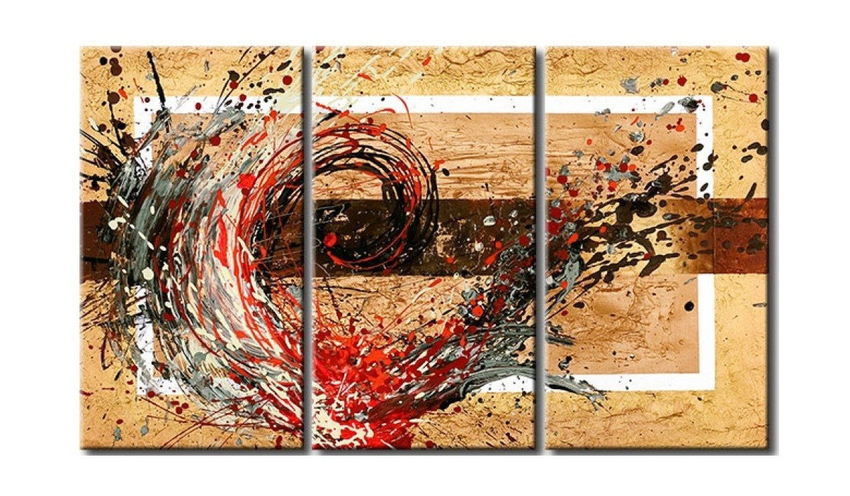 Acrylic Abstract Paintings, 3 Piece Wall Painting, Modern Acrylic Paintings, Wall Art Paintings for Living Room