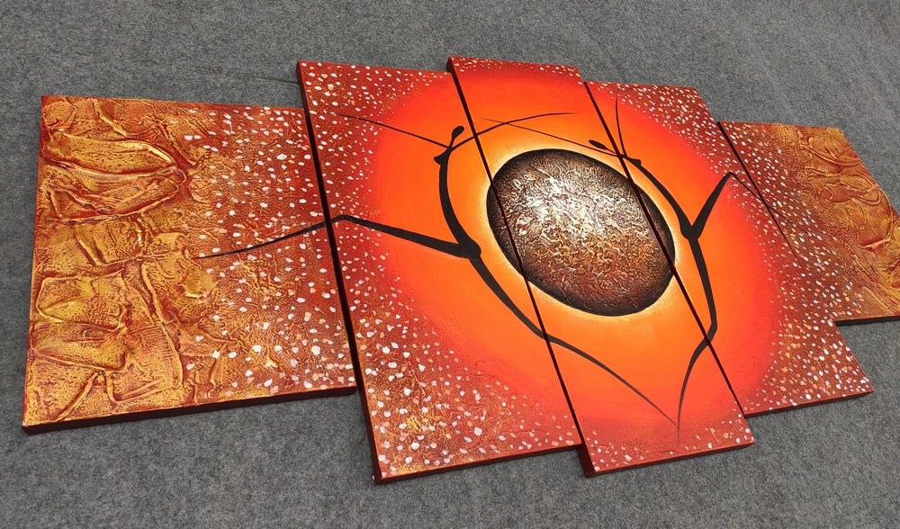 Acrylic Wall Art Paintings, Contemporary Painting, Modern Paintings, 5 Piece Canvas Art, Acrylic Painting on Canvas
