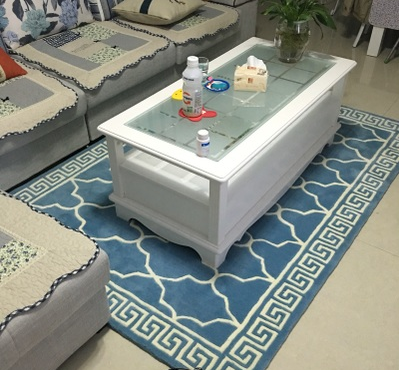 Blue Geometric Pattern Carpet