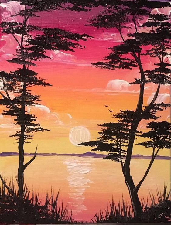 Easy Landscape Painting Ideas for Beginners, Easy Abstract Painting Ideas, Simple Canvas Painting Ideas, Easy Modern Wall Art, Easy Acrylic Painting Ideas