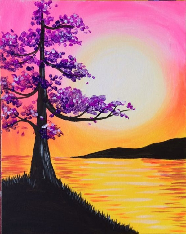 Easy Tree Painting, Easy Landscape Painting Ideas for Beginners, Easy Tree Painting Ideas, Simple Canvas Painting Ideas, Easy Modern Wall Art, Easy Acrylic Painting Ideas