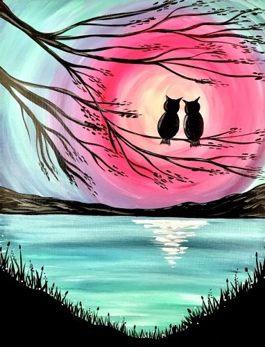 Moon Painting, Easy Landscape Painting Ideas for Beginners, Easy Tree Painting Ideas, Simple Canvas Painting Ideas, Easy Modern Wall Art, Easy Acrylic Painting Ideas