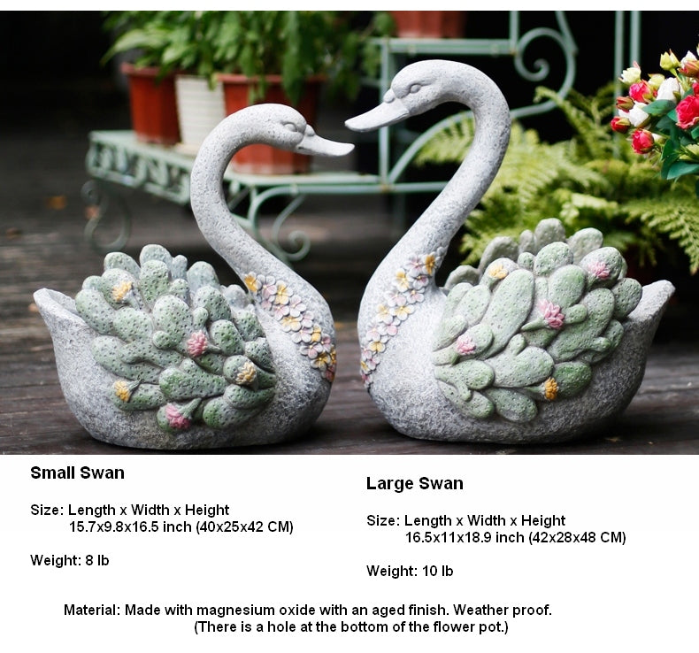 Extra Large Swan Flower Pot, Animal Statue for Garden Ornament, Swan Statues, Villa Courtyard Decor, Outdoor Decoration Ideas, Garden Ideas