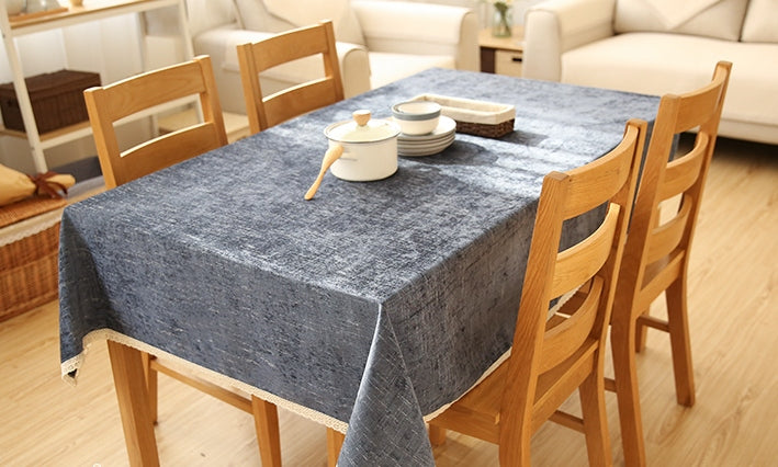 Deep Blue Tablecloth