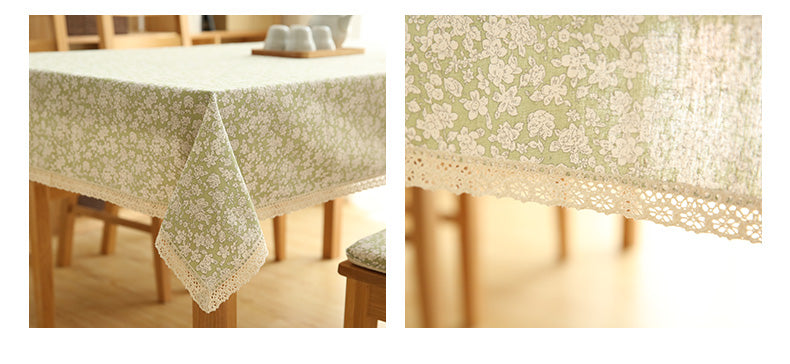 small calico cotton tablecloth
