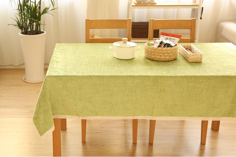 Light Green Tablecloth