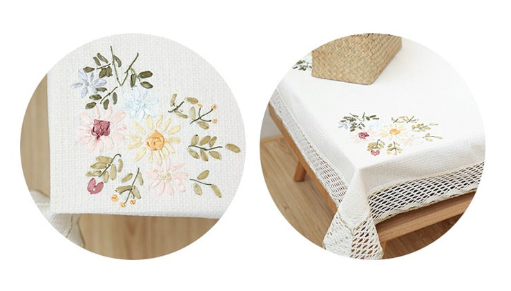 Cotton Embroidered Tablecloth
