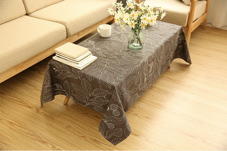 Brown Leaves Table Cloth