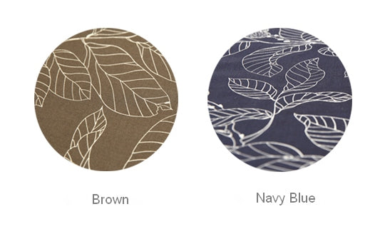 Navy Blue / Brown Leaves Table Cloth