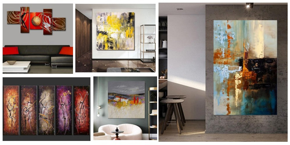 Simple modern art, modern paintings for living room, large abstract paintings, abstract acrylic paintings, bedroom canvas paintings, buy art online