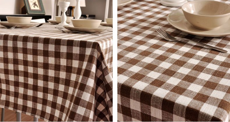 Ordinaire Brown Plaid Buffalo Check Tablecloth