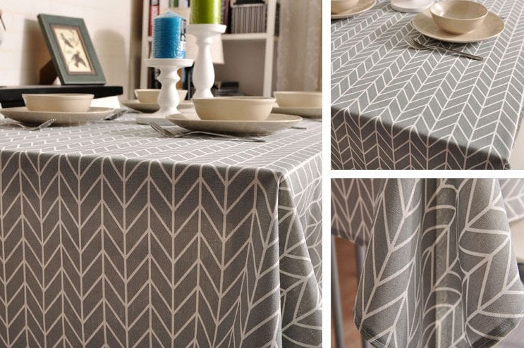 Arrow Pattern Fabric Table Cloth