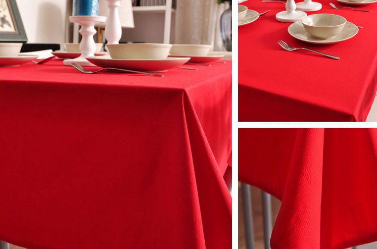 Red Tablecloth, Rustic Home Decor