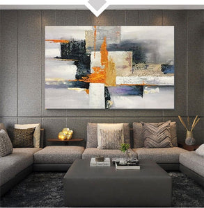 Abstract Acrylic Painting, Modern Paintings for Living Room, Hand Painted Wall Painting, Extra Large Abstract Art