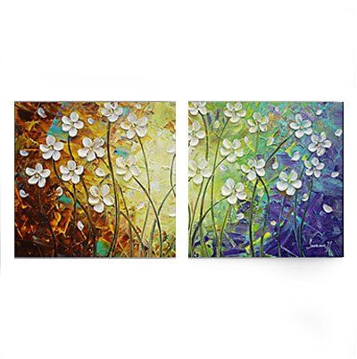 Flower Painting, Acrylic Flower Paintings, Bedroom Wall Art Painting, Modern Contemporary Paintings - Silvia Home Craft