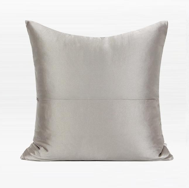 Light Gray Simple Style Modern Throw Pillow Pillow Cover With Insert Silvia Home Craft