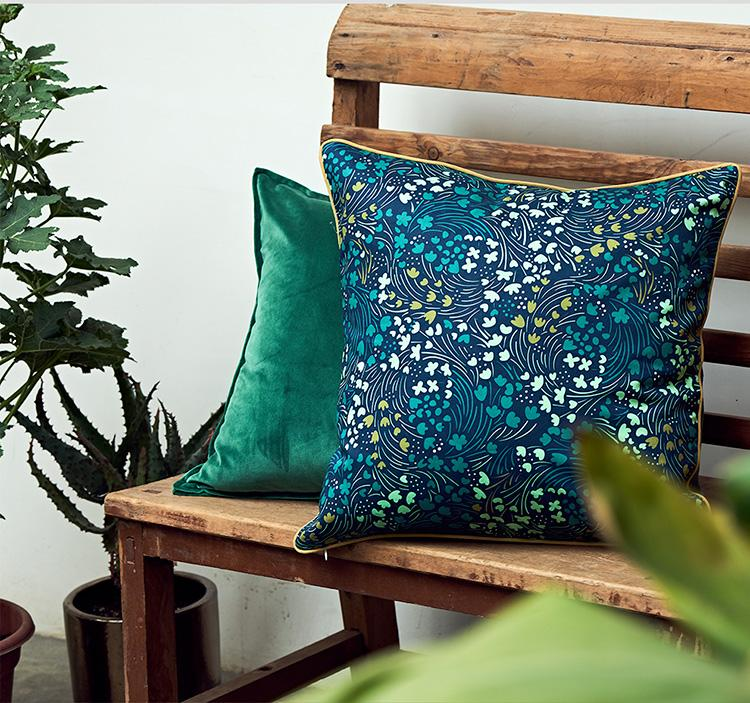 Beautiful Home Decorative Throw Pillow, Starry Night and Forest Pattern Cotton Pillow Cover, Sofa Pillows - Silvia Home Craft