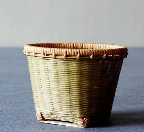 Natural Bamboo Basket, Rustic Basket, Hand Woven Snacks Basket, Round Decorative Basket - Silvia Home Craft