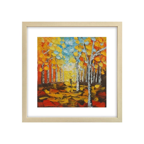 Landscape Oil Painting, Canvas Painting, Autumn Tree, Small Painting, Lovely Small Art - Silvia Home Craft