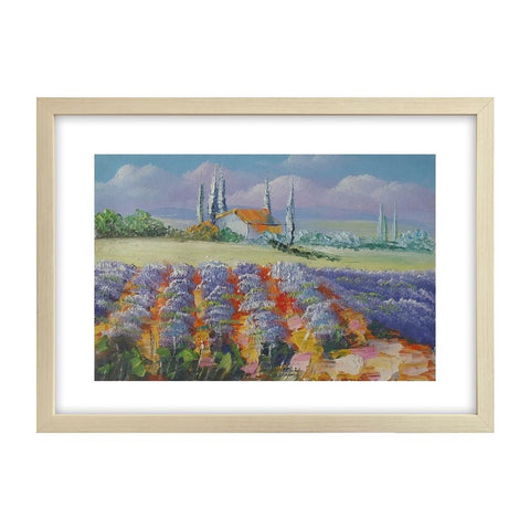 Landscape Art Painting, Lavender Field Painting, Canvas Painting, Small Painting - Silvia Home Craft