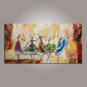 Large Art Ballet Dancer Canvas Painting Abstract