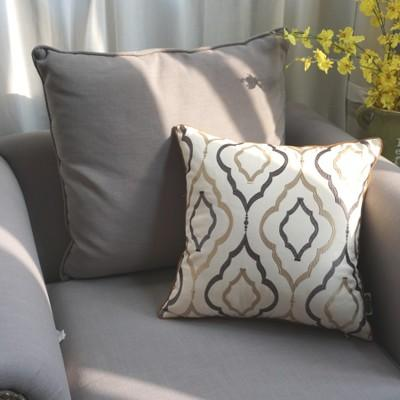 Sofa Pillows, Decorative Throw Pillow, Embroider Cotton Pillow Cover with Insert, Home Decor - Silvia Home Craft
