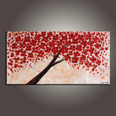 Art Painting, Contemporary Art, Flower Art, Modern Art, Abstract Art Painting, Canvas Wall Art, Living Room Wall Art, Canvas Art - Silvia Home Craft