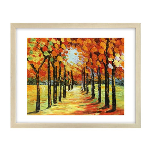 Forest Tree Painting, Canvas Art Painting, Small Art Painting, Small Painting