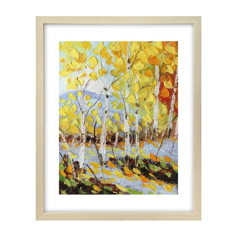 Original Painting, Birch Tree Painting, Small Art Painting, Canvas Art Painting - Silvia Home Craft