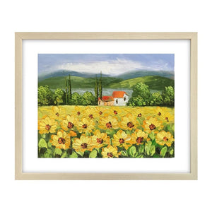 Canvas Art Painting, Original Painting, Sunflower Painting, Small Art Painting