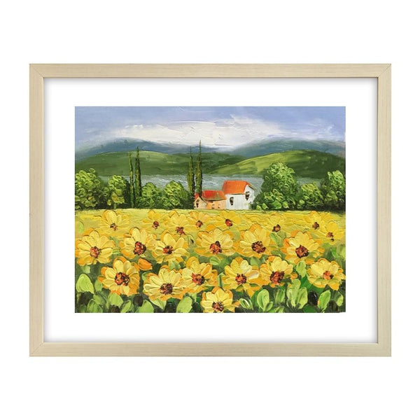 Canvas Art Painting, Original Painting, Sunflower Painting, Small Art Painting - Silvia Home Craft