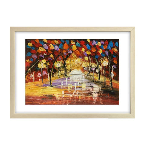 Landscape Painting,  Original Painting, Autumn Tree Painting, Small Art, Heavy Texture Painting - Silvia Home Craft
