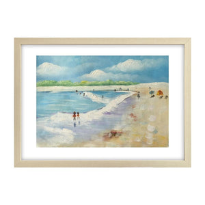 Seashore Painting,  Original Painting, Beach Painting, Small Art, Birthday Gift - Silvia Home Craft