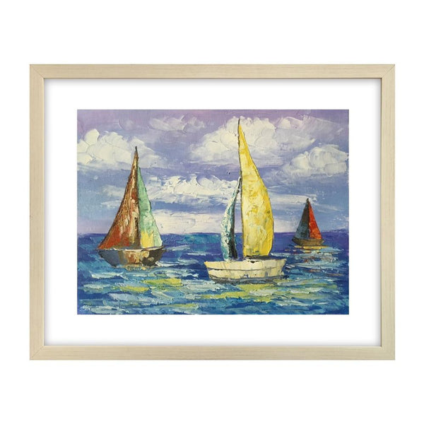 Canvas Art Painting, Modern Art, Sail Boat Painting, Original Painting, Small Art Painting - Silvia Home Craft